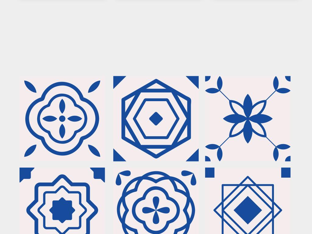 免抠元素 花纹边框 底纹 > 2018时尚蓝色抽象图形矢量素材  素材图片