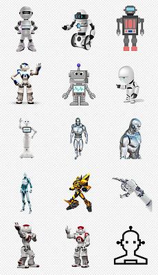 未来科技卡通写实机器人png免抠素材(02)