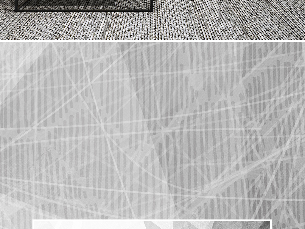 北欧抽象几何现代简约电视背景墙壁画图片
