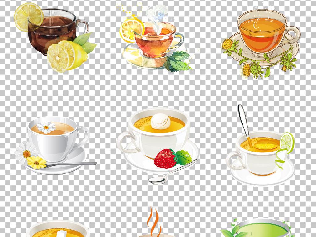 png素材                                          小清新手绘茶叶
