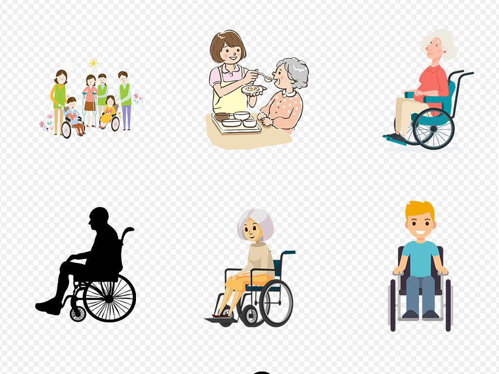 残疾人轮椅图标指示医疗器材海报素材背景图片