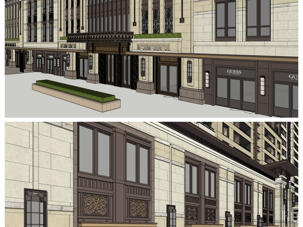 """【本作品下载内容为:""""新中式新古典高层住宅底商沿街商业建筑模型""""模板,其他内容仅为参考,如需印刷成实物请先认真校稿,避免造成不必要的经济损失。】 【注意】作品授权不包含作品中使用到的字体和摄影图,下载作品后请自行替换。 【声明】未经权利人许可,任何人不得随意使用本网站的原创作品(含预览图),否则将按照我国著作权法的相关规定被要求承担最高达50万元人民币的赔偿责任。所有作品均是用户自行上传分享并拥有版权或使用权,仅供网友学习交流,未经上传用户授权,请勿作他用。"""