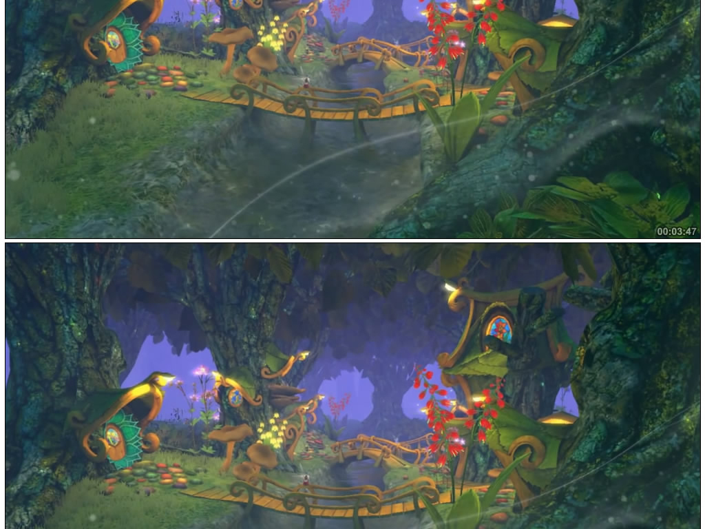 卡通仙境森林绿野仙踪唯梦幻童话森林素材森林童话