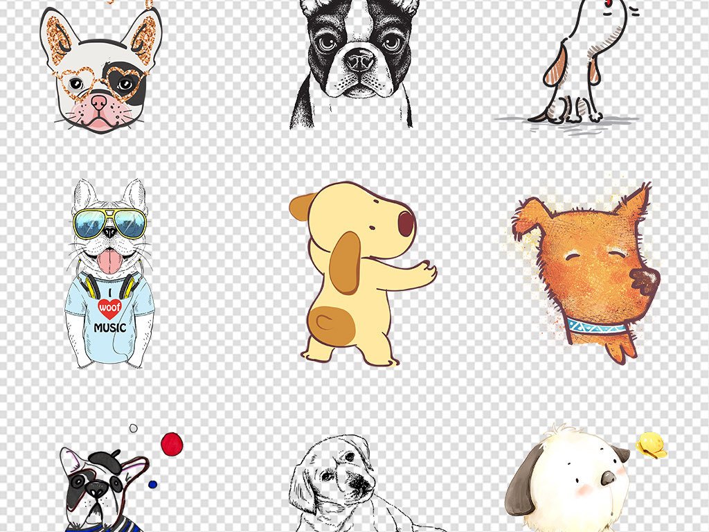 画卡通动物手绘动物可爱小动物动物素材小动物素材可爱卡通可爱手绘