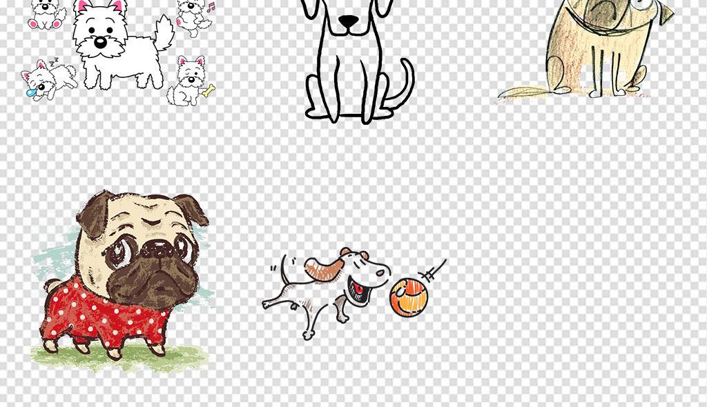 手绘狗小狗图片动物宠物小狗可爱小狗卡通小狗手机壳图案宠物儿童画