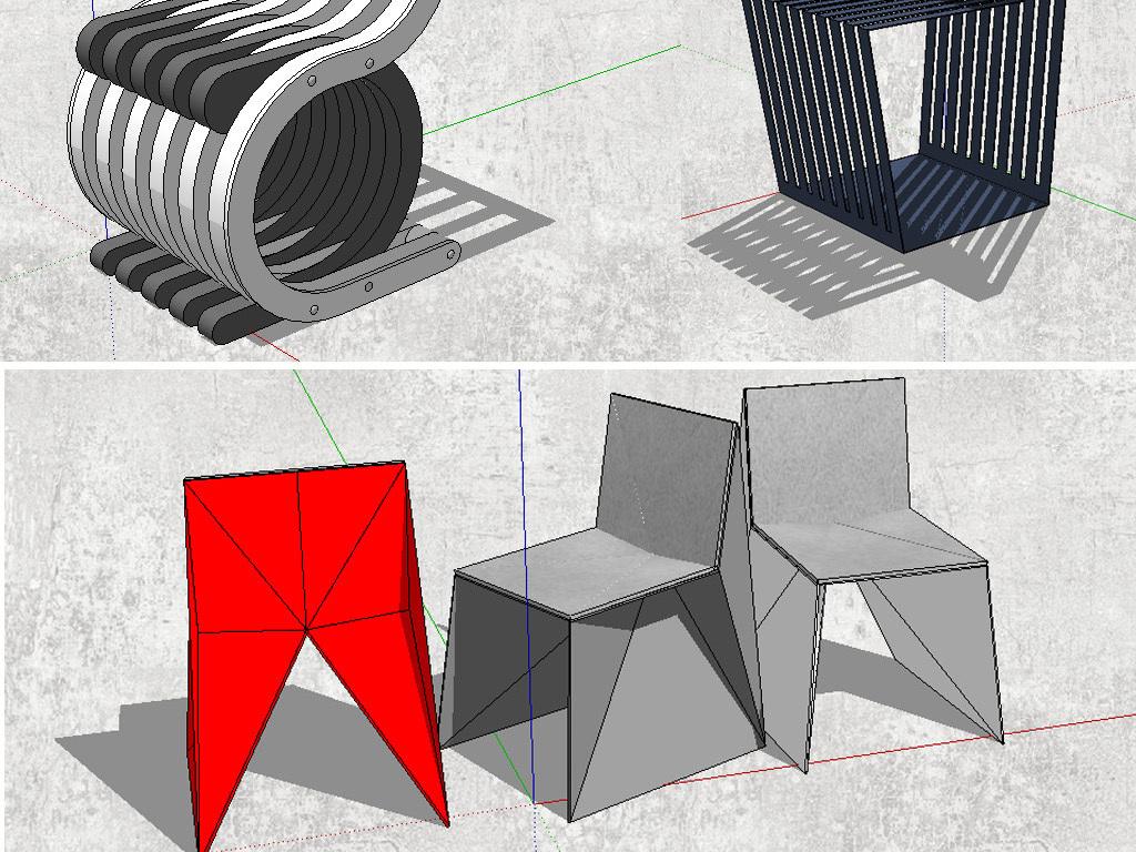 创意椅子模型设计图下载(图片22.34mb)_其他库_室内图片