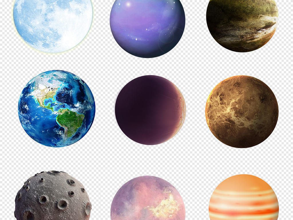 宇宙星球手绘星球