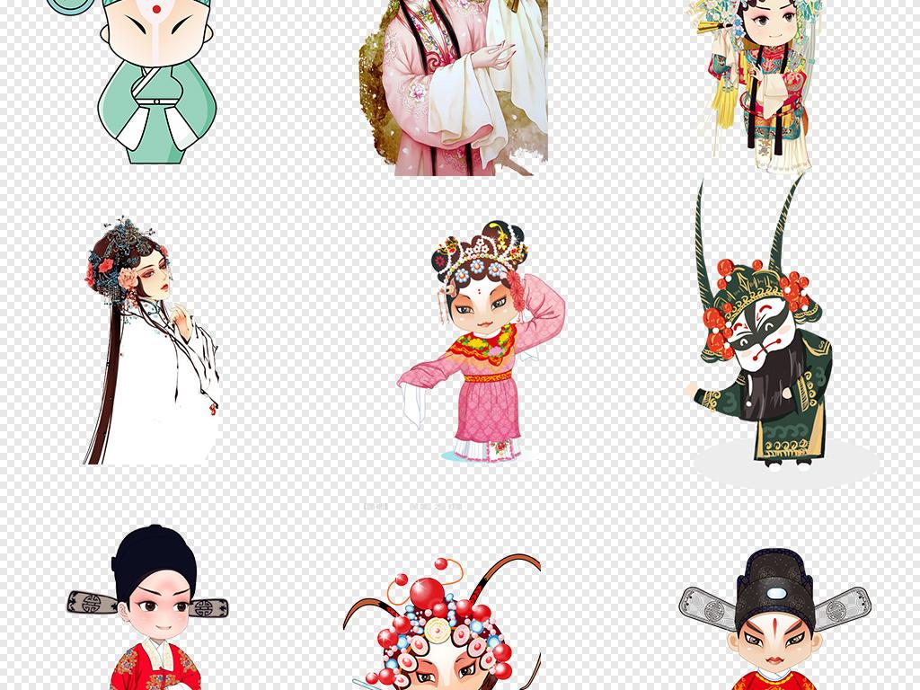 手绘人物剪纸卡通人物人物京剧脸谱素材京剧脸谱戏剧人物素材京剧人物