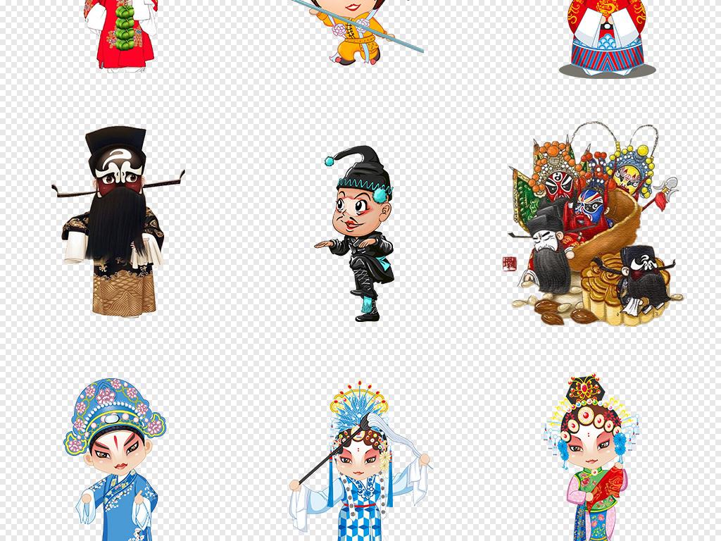 女脸谱京剧脸谱净红脸中国风元素背景图片手绘人物剪纸卡通人物人物