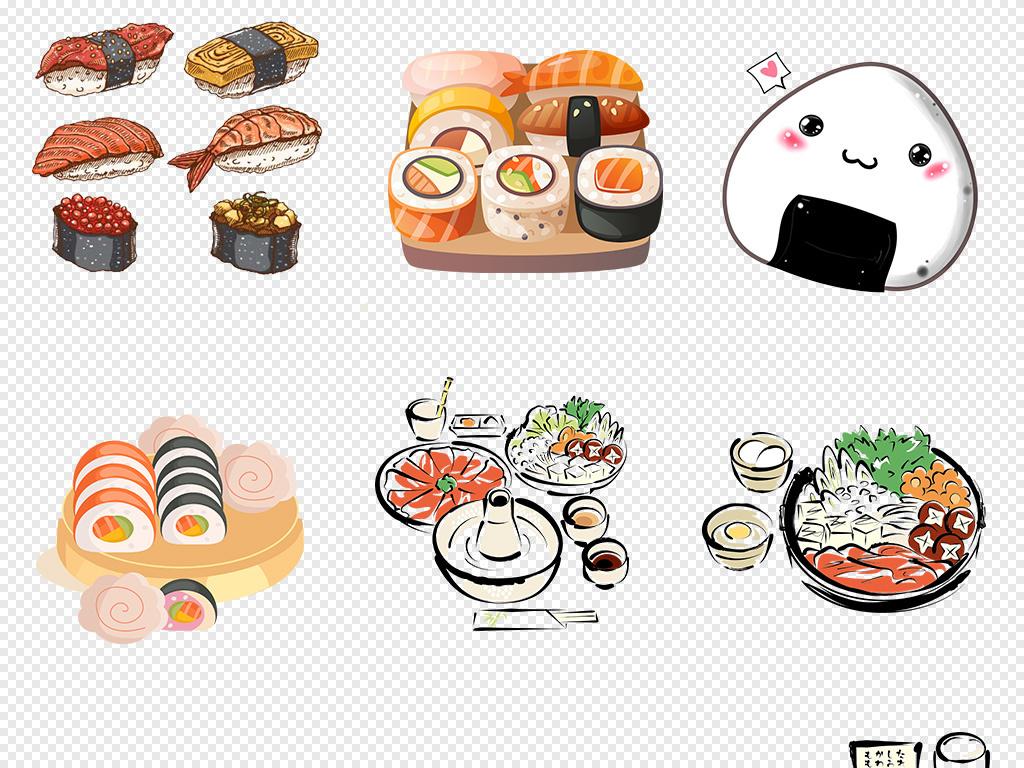 和食寿司海报素材寿司展架寿司易拉宝三文鱼寿司