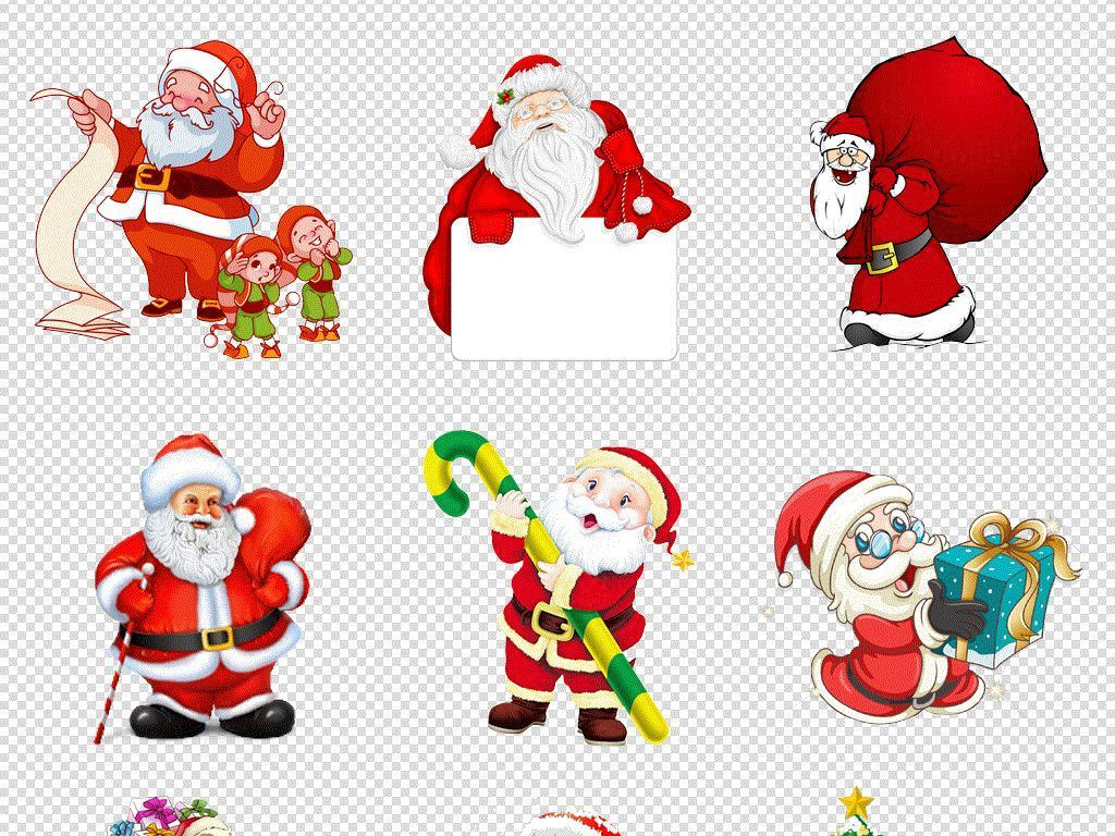 圣诞节圣诞礼物礼盒礼品圣诞老人节日免扣素材