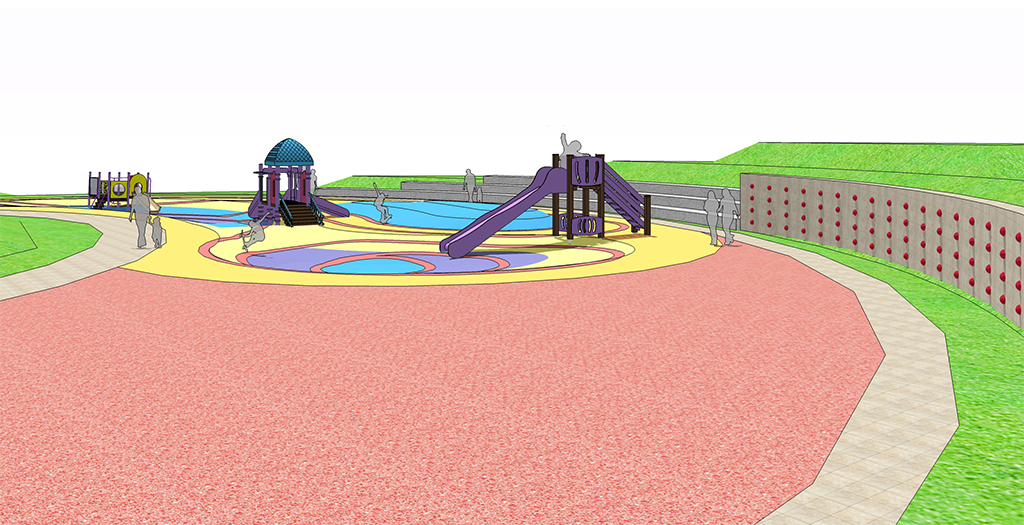 现代山地公园广场住宅小区幼儿园儿童游乐设施场地景观设计