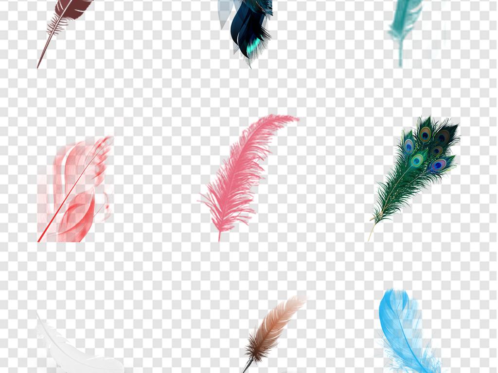 北欧唯美手绘水彩羽毛海报素材背景png