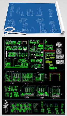 中式禅意风格天花吊顶花格整木家居CAD图库一木吊顶花格与单花格平面设计图下载 图片1.37MB 其他大全 建筑CAD图纸