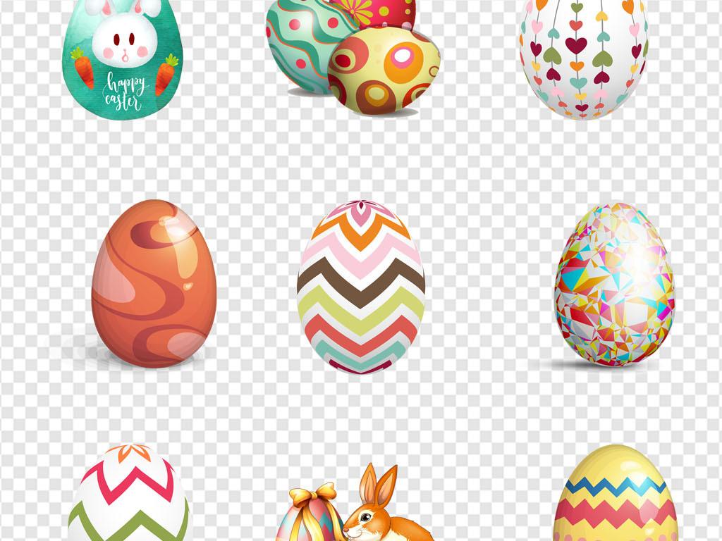 可爱小兔子装饰小动物手绘彩蛋海报PNG素材图片 模板下载 25.66MB 动物大全 自然