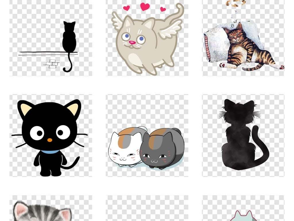 卡通手绘可爱小猫咪动物宠物海报图片素材