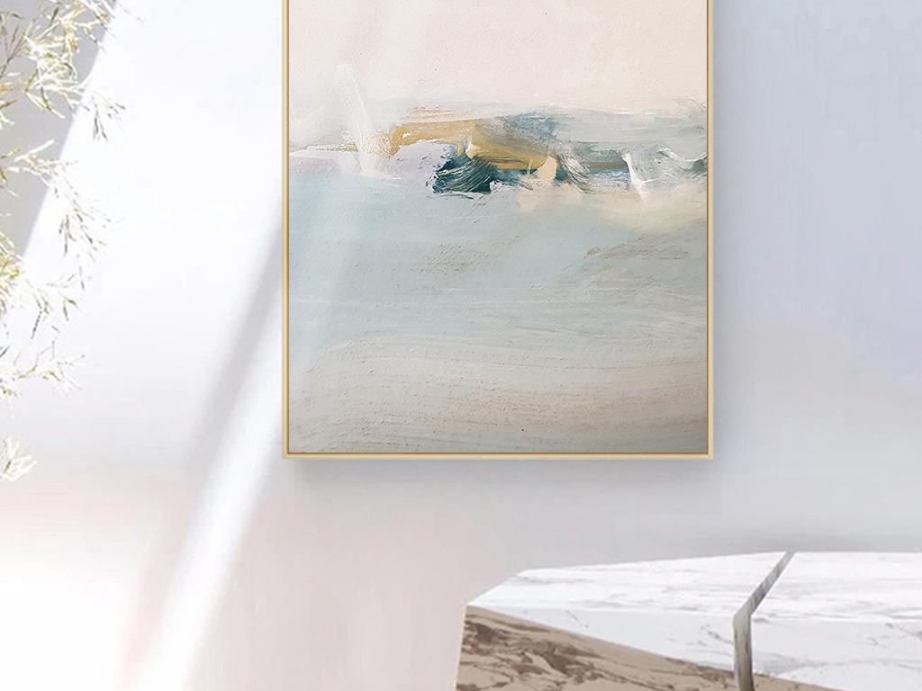 北欧ins海面油画风景玄关装饰画图片设计素材_高清(24