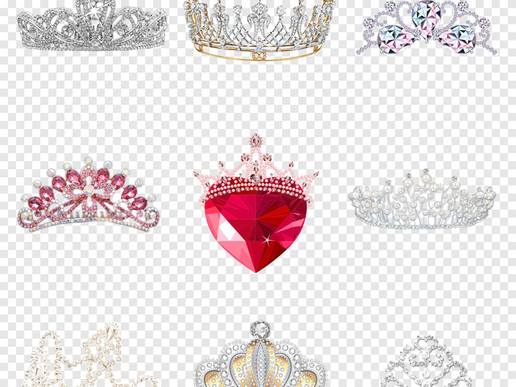 手绘皇冠卡通皇冠素材皇冠水晶钻石婚纱背景png背景钻石水晶女王钻石