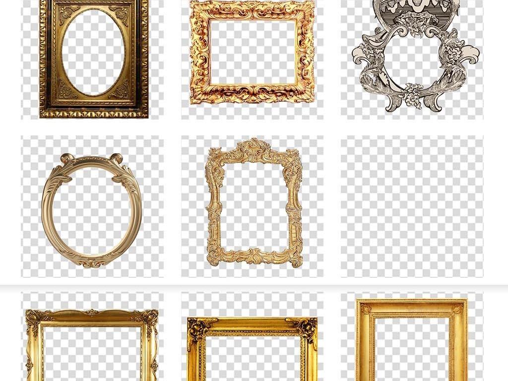 欧式金色相框图片素材_模板下载(73.98mb)_欧式边框