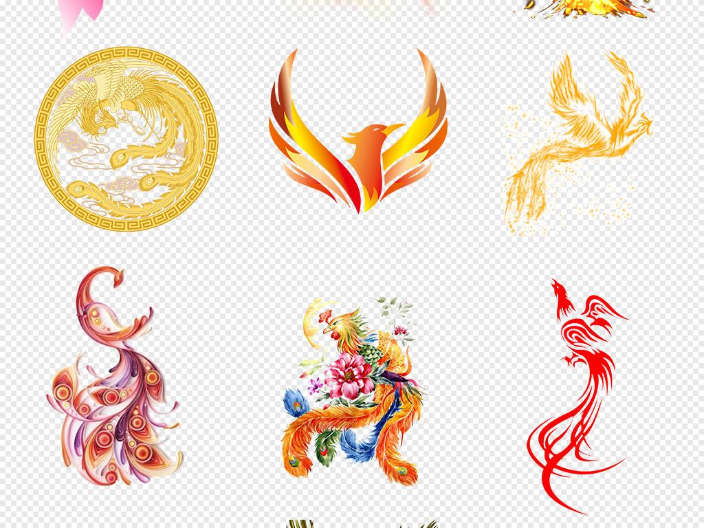图腾金凤凰动物广告设计设计元素ps浴火凤凰凤凰火火凤凰图片凤凰素材