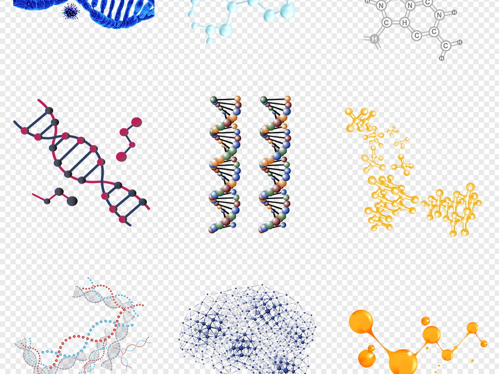 50款药物成分化学基因分子结构医疗海报dna素材