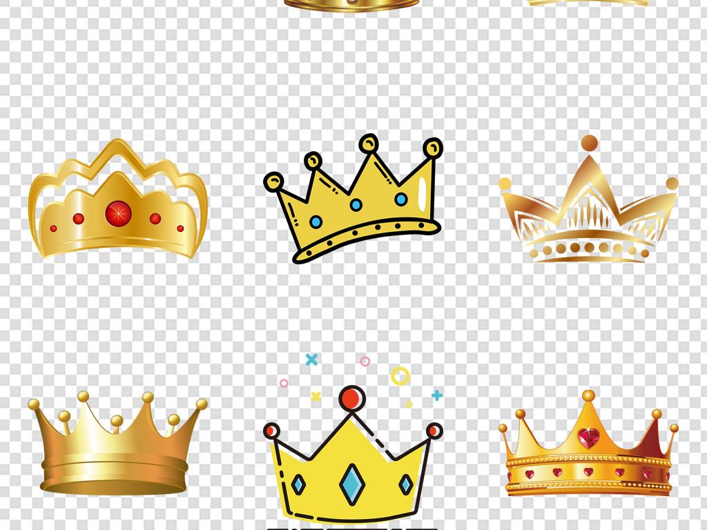 金色皇冠皇冠图片手绘头盔精致王冠皇冠图案