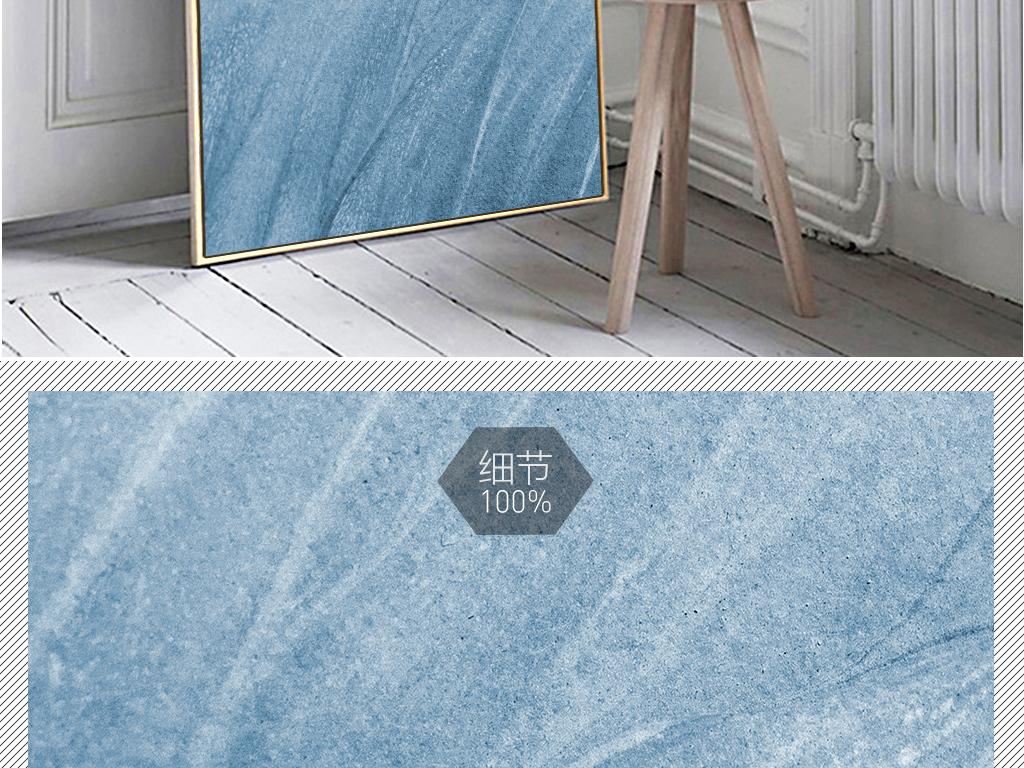 北欧ins抽象蓝色漆风景玄关装饰画