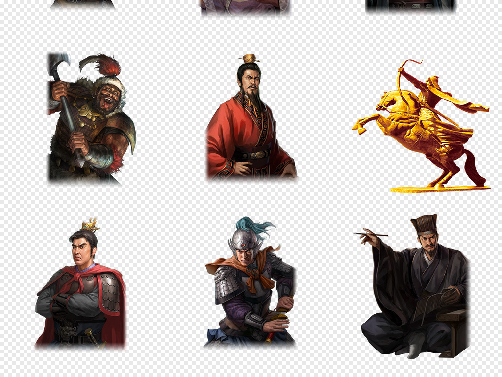 游戏古装将军人物古代战争将军战士海报背景png