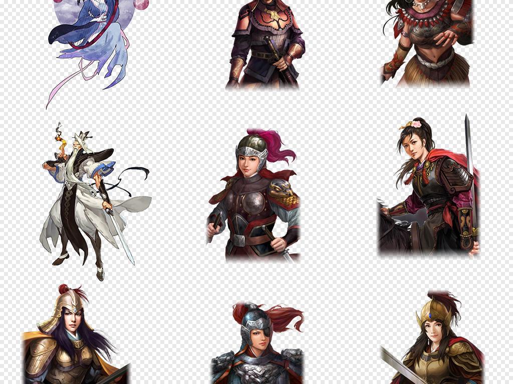 古装人物游戏古代战争女将军海报背景png