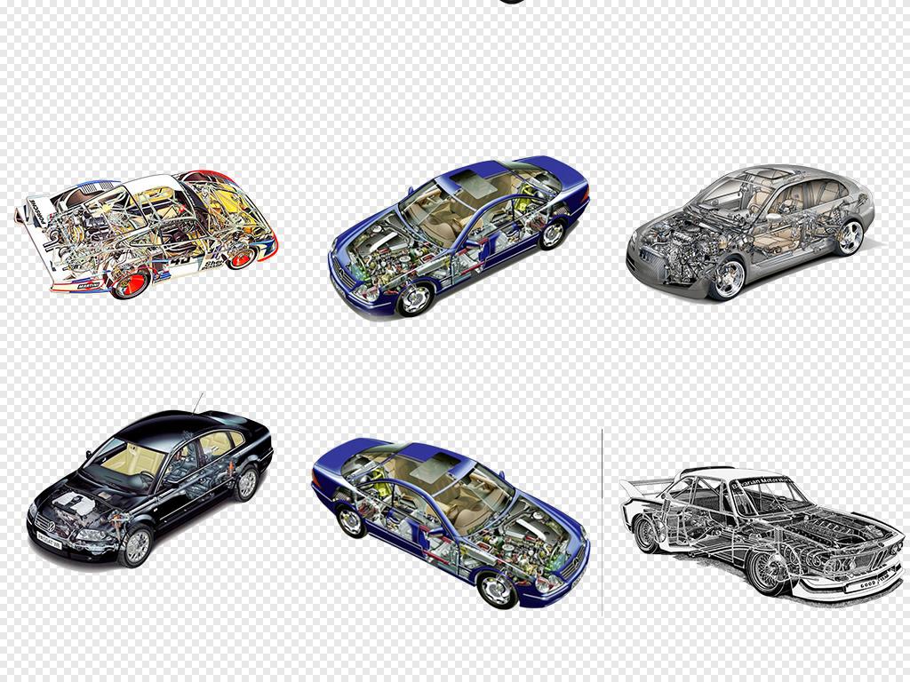 汽车内部结构透视图机械内部展示png素材
