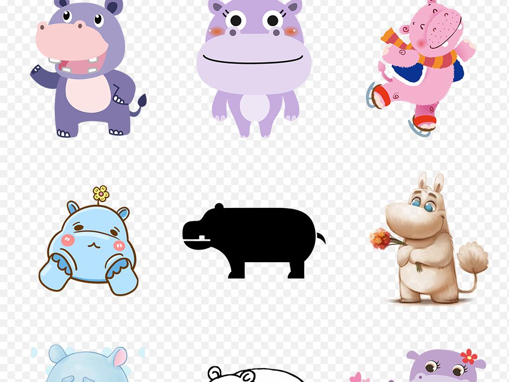 真实动物呆萌动物公园陆地动物海底动物动物插画动物造型动物园卡通小