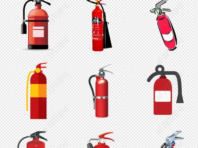 灭火器119消防器材设计元素PNG素材图片 模板下载 24.36MB 居家物品大全 生活工作