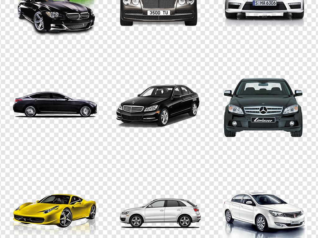 汽车宝马奔驰大众白色银色法拉利保时捷素材图片_模板