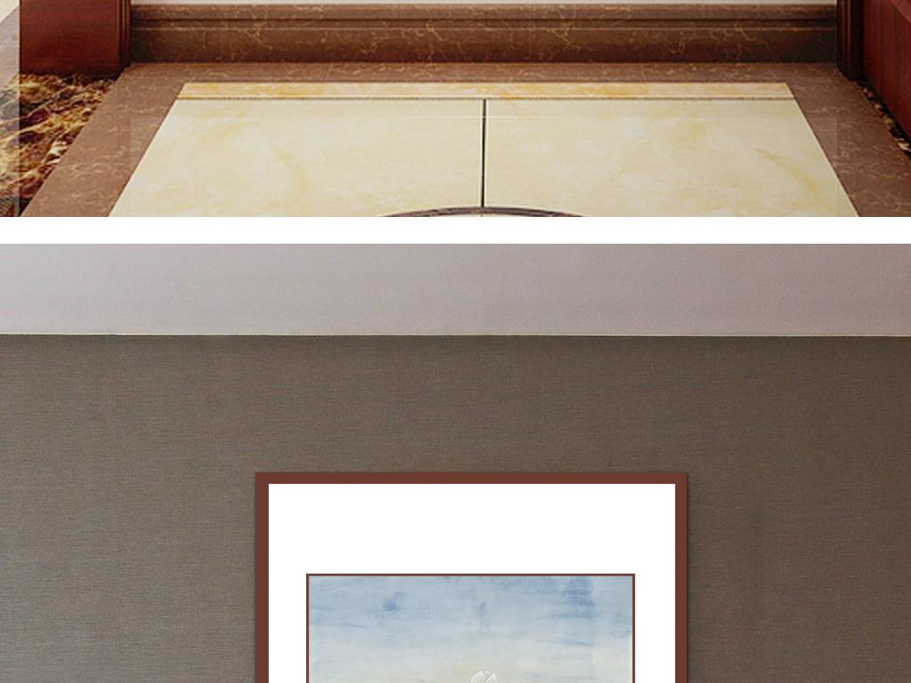 玉兰富贵图现代中式客厅玄关挂画超高清手绘画图片设计素材 模板下载 59.44MB 花鸟装饰画大全
