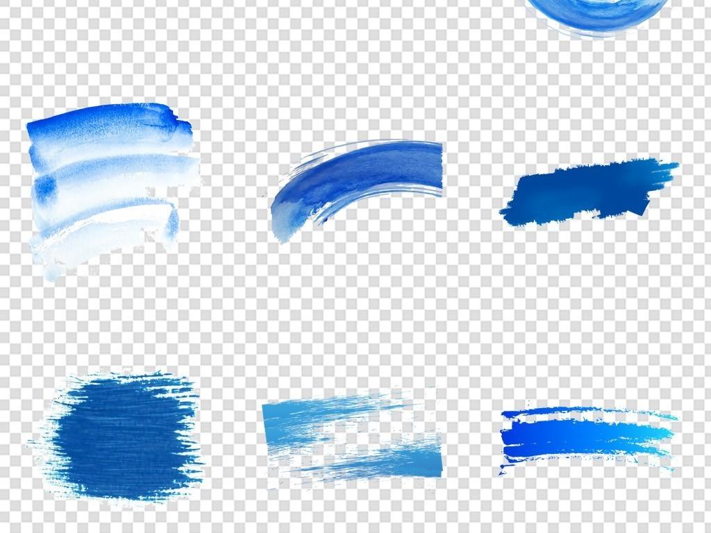 蓝色墨迹笔刷图片免扣背景PNG素材 模板下载 34.22MB 其他大全 生活工作图片