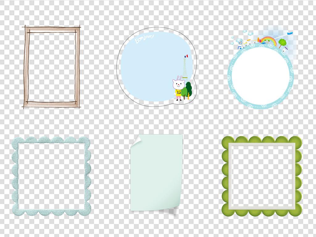 背景卡通背景可爱边框相框对话框档案边框pngpng边框成长档档案边框