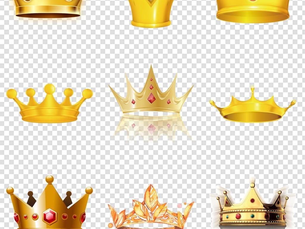 可爱皇冠王冠装饰图案表情弹幕透明背景png素材