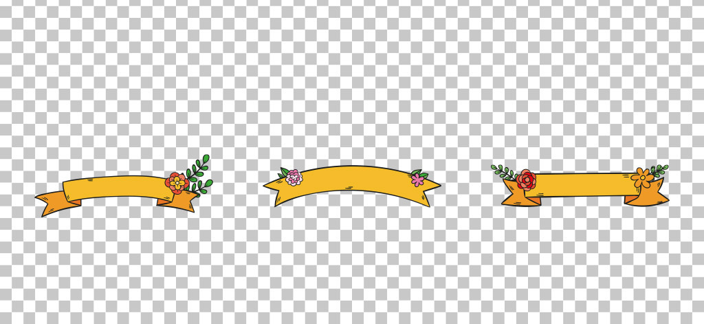 艺手绘花卉丝带免抠png素材图片 模板下载 16.99MB 情人节丨七夕大