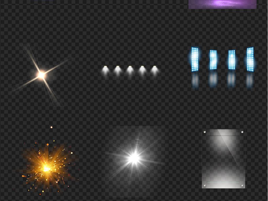 舞台光效灯光光束led灯顶射镭射效果免扣图片素材 模板下载 23.60MB 光晕光效大全 科技