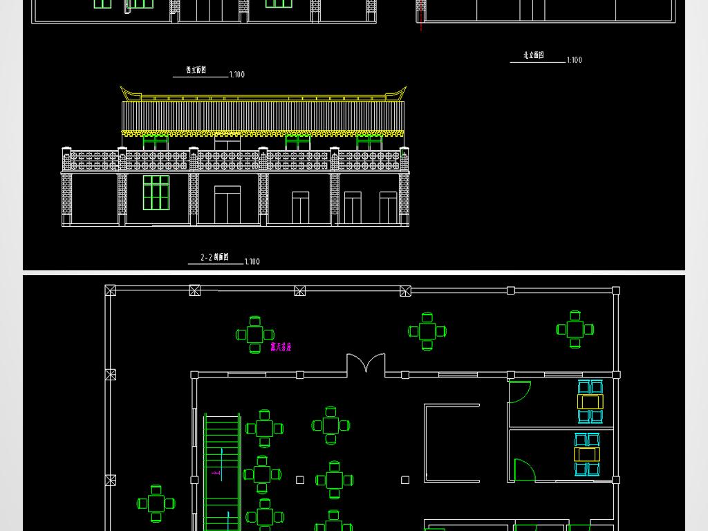 茶室cad建筑设计