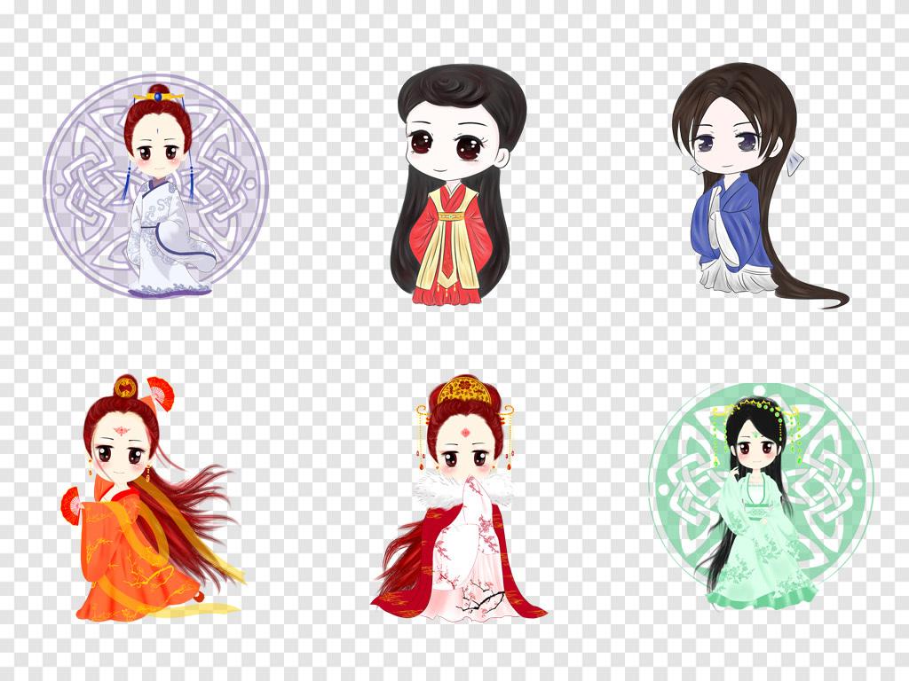 中国风古典人物可爱q版古代人物动漫人物png素材