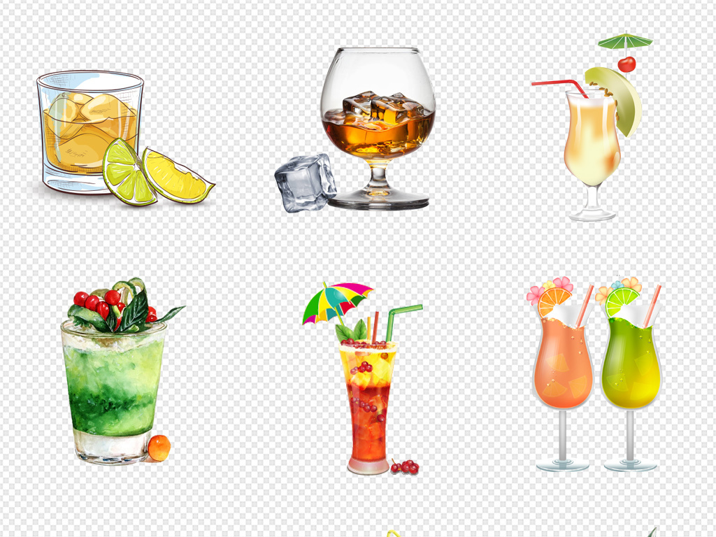 酒矢量饮料果汁插画插画手绘饮料矢量素材饮料素材冷饮矢量素材冰激凌
