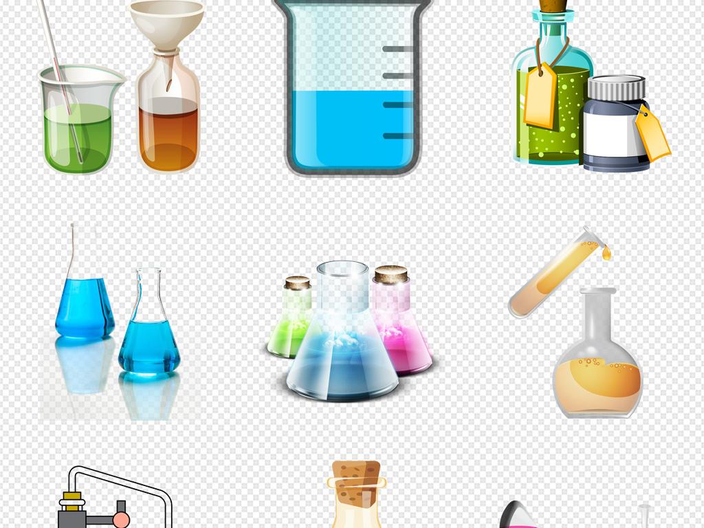 科学化学实验设备器材png透明背景免扣素材
