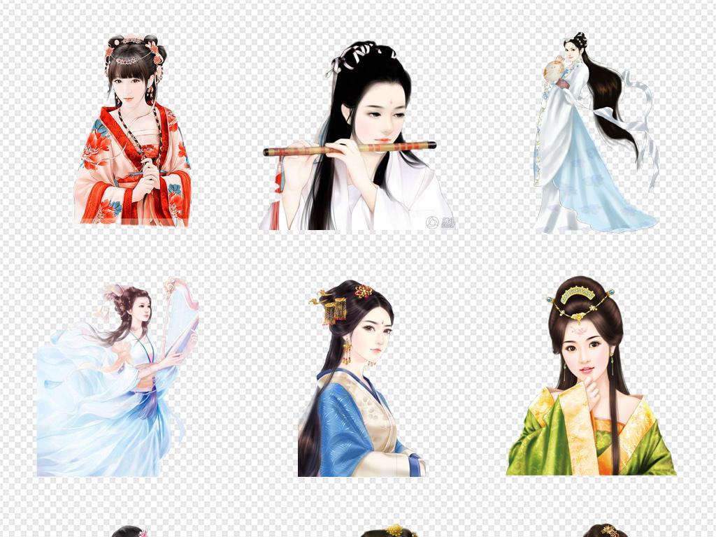 女生中国古风人物美女中国素材古典美女古代人物古代古代美女古装美女