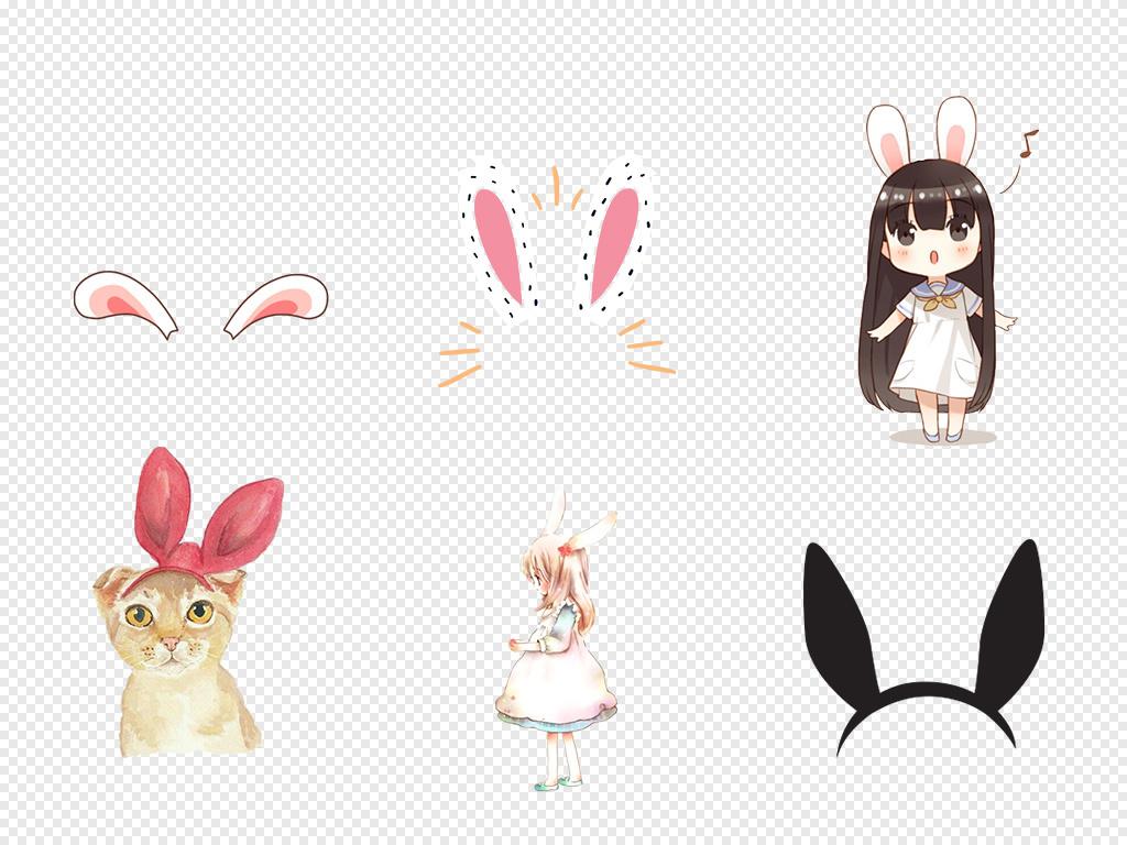 图片可爱卡通卡通素材可爱卡通兔子耳朵兔子耳朵卡通可爱动物可爱兔子