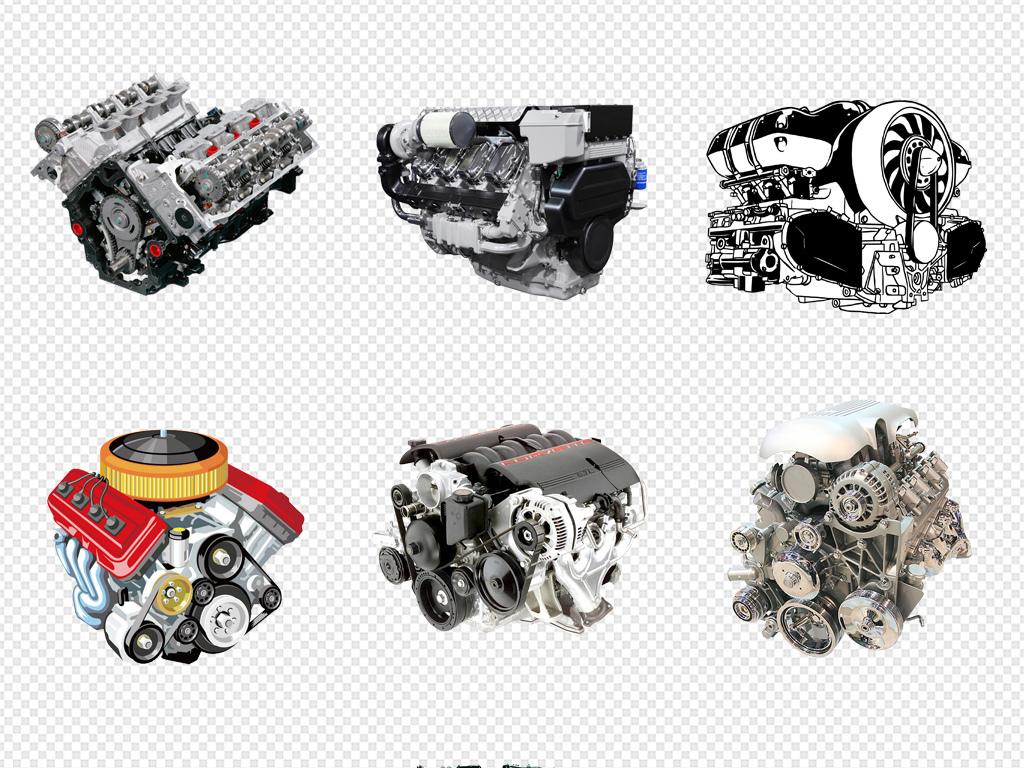 机动车汽车维修引擎发动机海边png素材