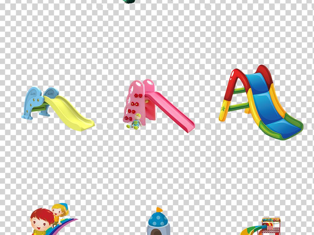 卡通儿童玩具滑滑梯图片png免抠透明手抄报海报平面设计素材
