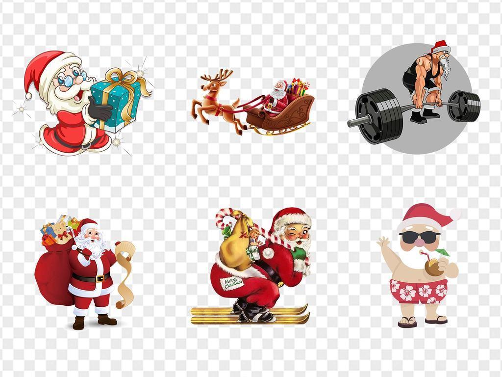 卡通大气圣诞节圣诞老人透明底素材设计元素免扣png