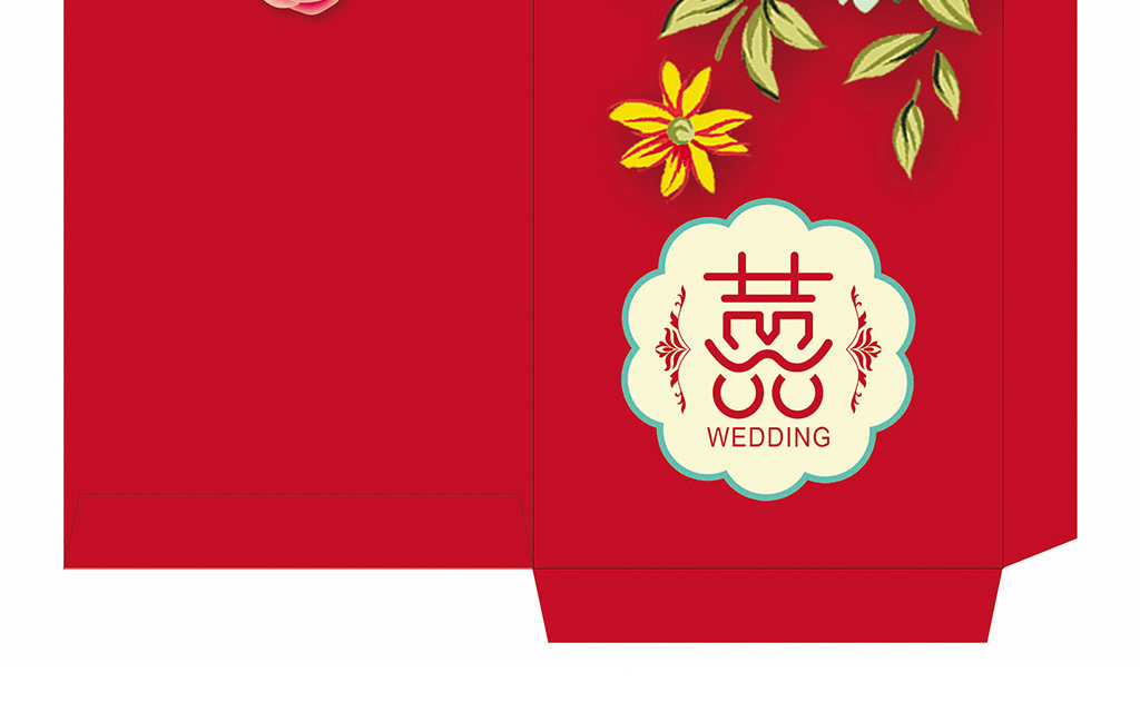 中国风红包设计红色喜庆婚礼红包