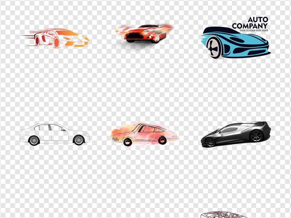 广告设计保养维修素材简笔画跑车手绘汽车炫酷兰博基尼法拉利劳斯莱斯